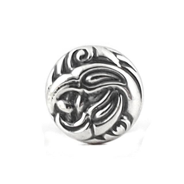 【海外訂購】【LONE ONES】Nest 圓形手工雕刻純銀耳環(LKE014  0099070000) 0