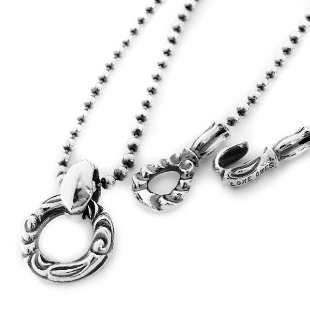 【現貨商品】【LONE ONES】祈願鶴圓形墜飾純銀串珠項鍊(LKP008M-SN  0265760000) 0