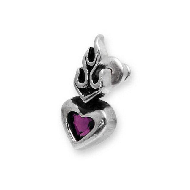【現貨商品】【Leathers&Treasures】神聖之心紫水晶純銀耳環 (LTE013-A  0117690000) 0
