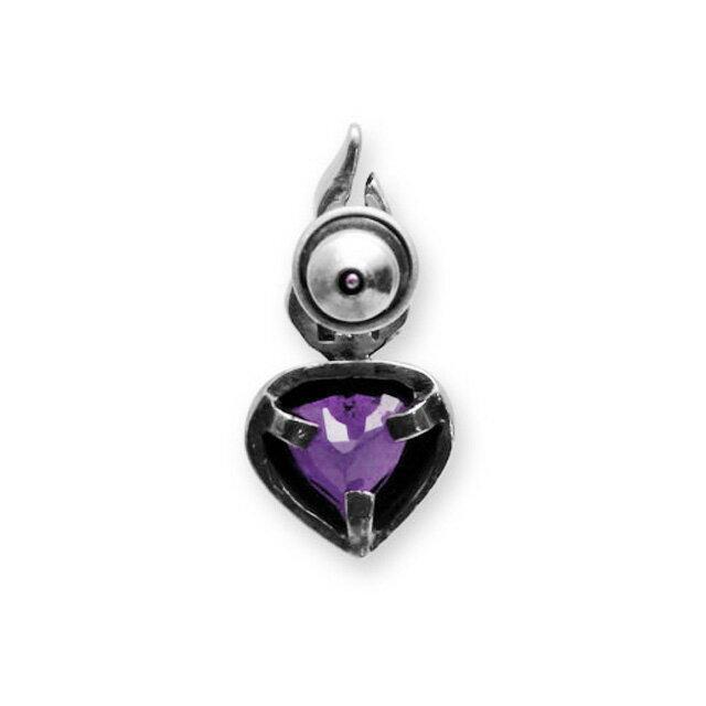 【現貨商品】【Leathers&Treasures】神聖之心紫水晶純銀耳環 (LTE013-A  0117690000) 1
