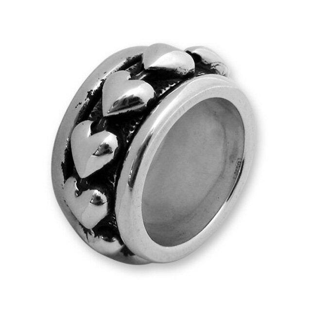 【現貨商品】【Leathers&Treasures】可動旋轉心型純銀戒指(LTR020) 0