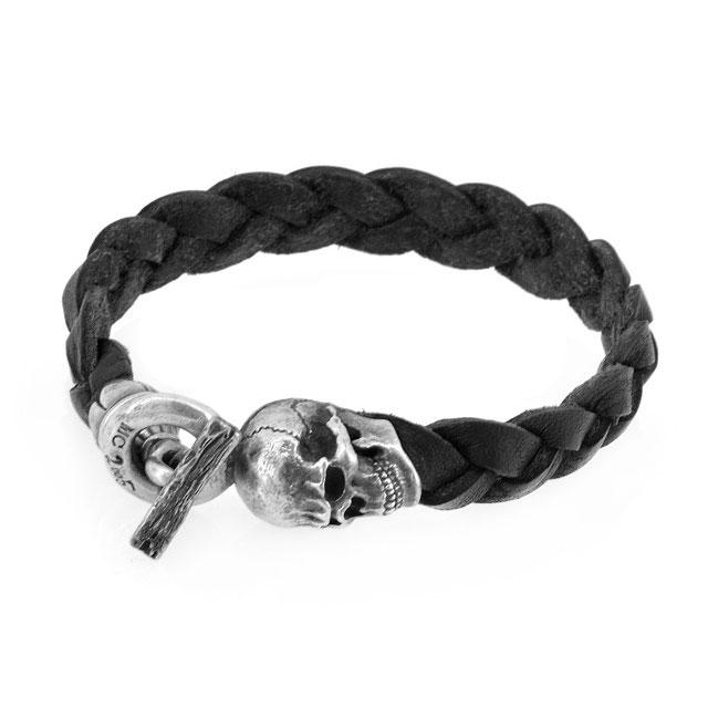 【海外訂購】【MAD CULT】螺旋骷髏真皮皮革手環(MAD-LB-03) 0