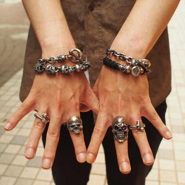 【海外訂購】【MAD CULT】螺旋骷髏真皮皮革手環(MAD-LB-03) 4