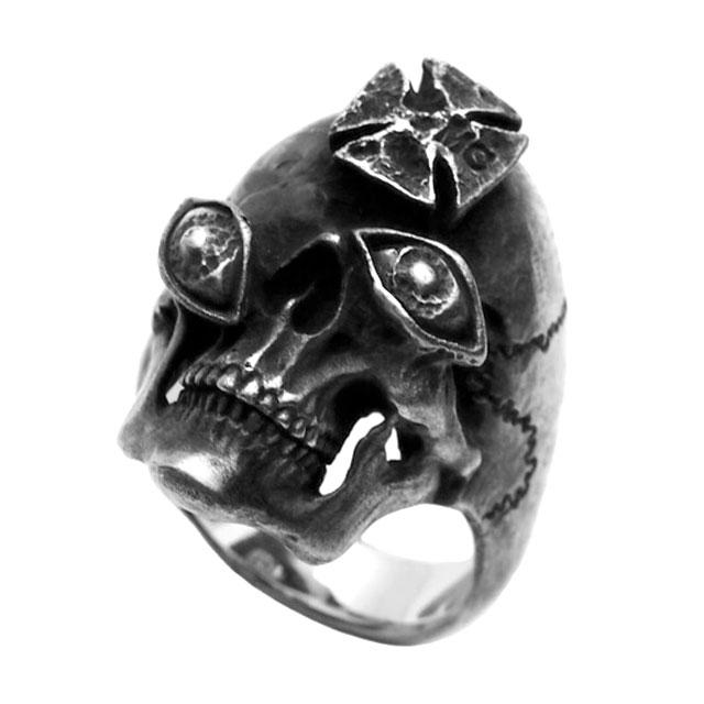 【海外訂購】【MAD CULT】Crime 惡罪骷髏純銀戒指(MAD-R-18) 0