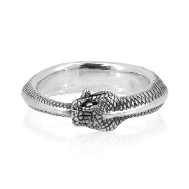 【海外訂購】【MAD CULT】銜尾蛇純銀戒指(MAD-R-24) 0