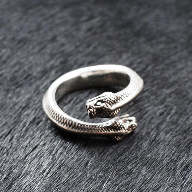 【海外訂購】【MAD CULT】雙頭蛇純銀戒指(MAD-R-27) 2