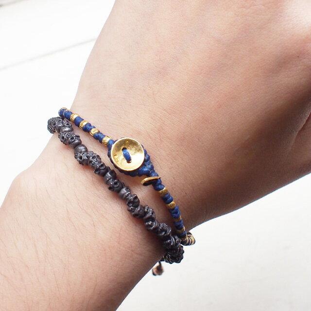 【現貨商品】【M.Cohen】泰國鍍金串珠藍色編織手環(MC-B-10005-PGD-Blue  0790580002) 1