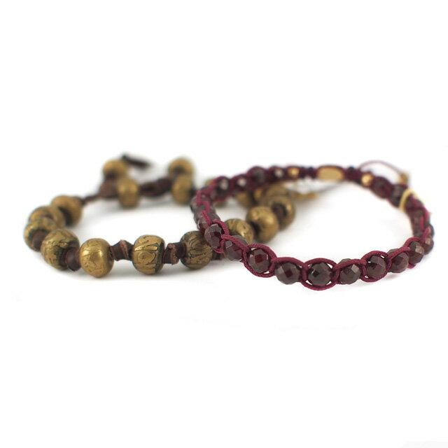 【現貨商品】【M.Cohen】金色骷髏寶石暗紅色可調式手環 (MC-B-10013-G  0710600000) 1