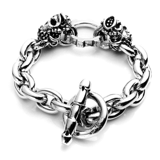 【海外訂購】【STARLINGEAR】地獄潑猴骷髏鎖鏈純銀手鍊(STB069Monkey  0558120000) 1