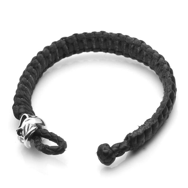 【海外訂購】【STARLINGEAR】Brotherhood 劍齒骷髏黑色編織皮手環(STLB013Jun  0597060000) 2