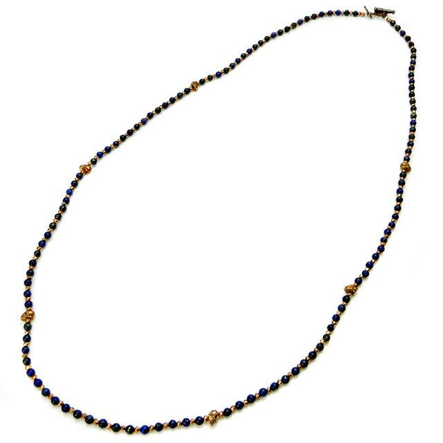 【現貨商品】【STARLINGEAR】復古風格青金石串珠銅製骷髏項鍊(STN038M-CP-2  0593630000) 0