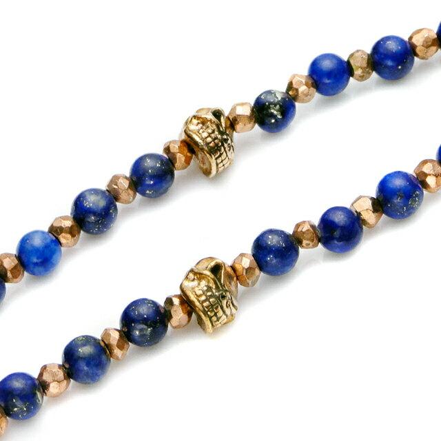 【現貨商品】【STARLINGEAR】復古風格青金石串珠銅製骷髏項鍊(STN038M-CP-2  0593630000) 2