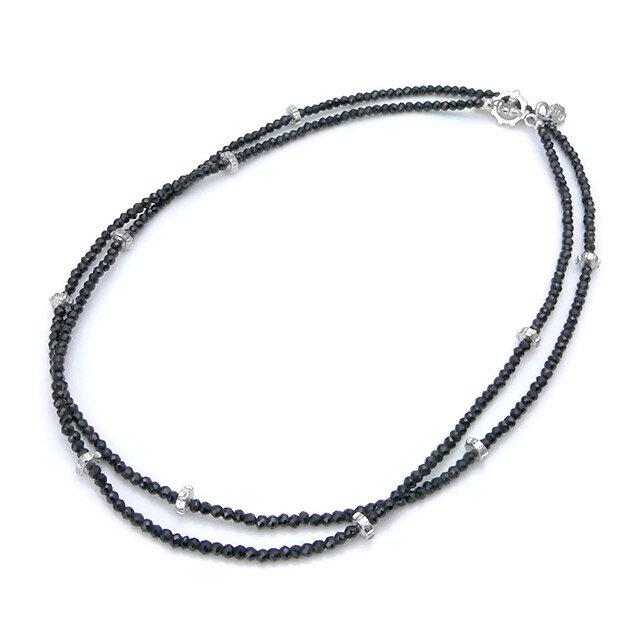 【現貨商品】【STARLINGEAR】復古風格黑尖晶石串珠純銀骷髏項鍊(STN040M-SV-2  0639260000) 0