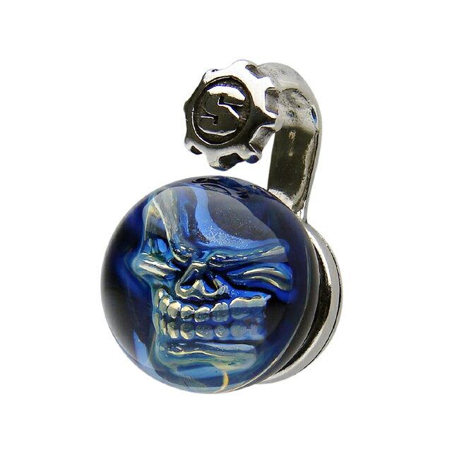 【現貨商品】【STARLINGEAR】藍色大理石骷髏純銀墜飾(STP066  0436860000) 0
