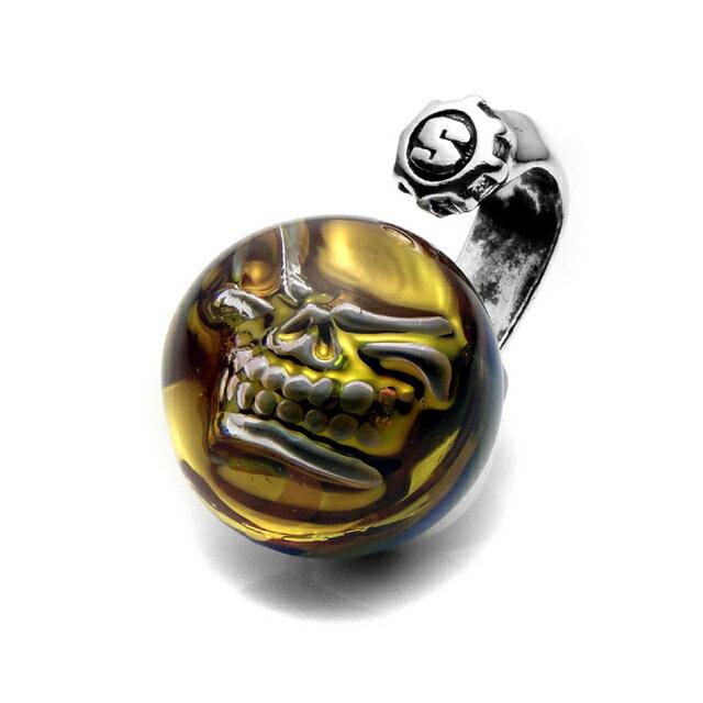 【現貨商品】【STARLINGEAR】黃色大理石骷髏純銀墜飾(STP067  0436870000) 1