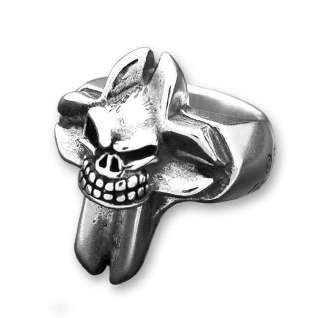 【海外訂購】【STARLINGEAR】死神微笑骷髏純銀戒指(STR019) 0