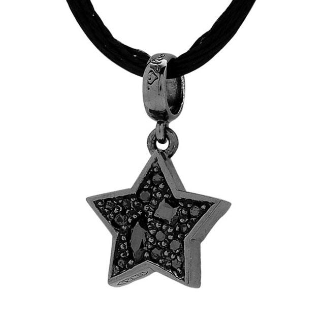 【海外訂購】【Velvet Lounge】Brighting 星星碎鑽純銀墜飾(黑色鍍膜)(V-VLC010B-Cz  0621810000) 0