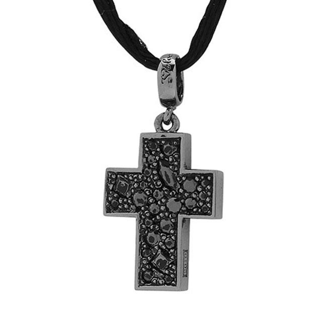 【海外訂購】【Velvet Lounge】Brighting 十字架碎鑽純銀墜飾  (黑色鍍膜)(V-VLC013B-Cz  0621870000) 0