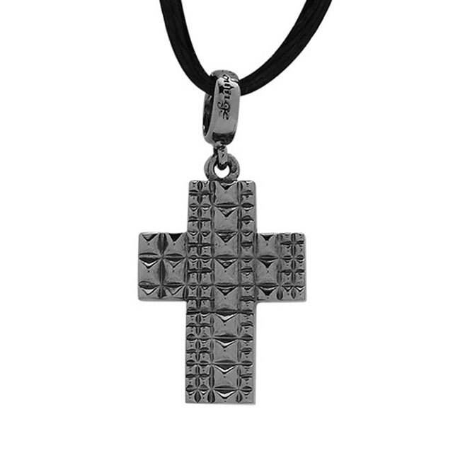 【海外訂購】【Velvet Lounge】Brighting 十字架碎鑽純銀墜飾  (黑色鍍膜)(V-VLC013B-Cz  0621870000) 1