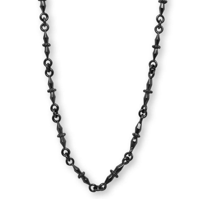 【海外訂購】【Velvet Lounge】Ornament 酷黑純銀項鍊 50cm(黑色鍍膜) (V-VLN015B  064529B500) 0