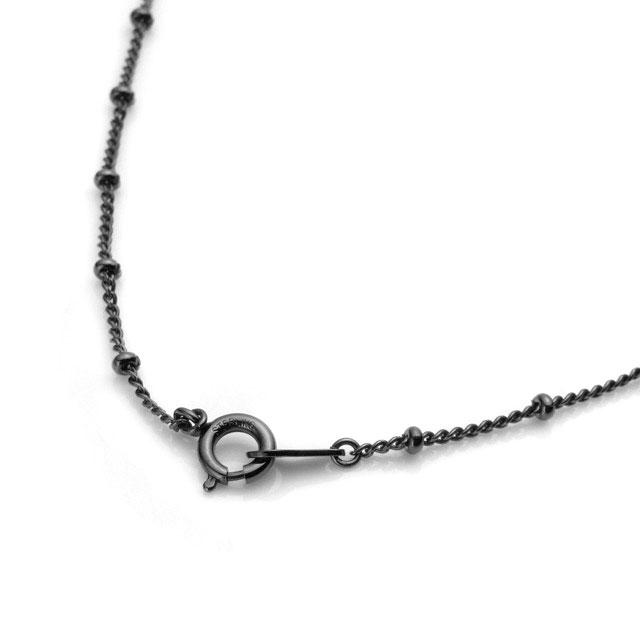 【海外訂購】【Velvet Lounge】Intersect 酷黑碎鑽純銀項鍊45cm(V-VLP-wjk003B-Cz  0654140000) 1