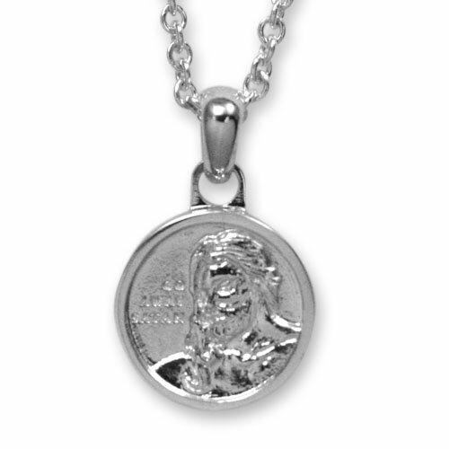 【海外訂購】【Velvet Lounge】耶穌瑪瑙銀幣項鍊 50cm (V-VLP011-O  0620340000) 0