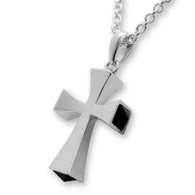【海外訂購】【Velvet Lounge】十字架黑瑪瑙純銀項鍊 50cm (V-VLP016-O  0620390000) 0