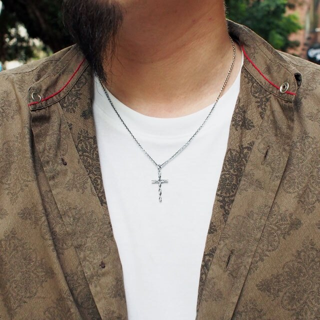 【海外訂購】【Velvet Lounge】古典十字架純銀項鍊 50cm (V-VLP065W  0622520000) 1