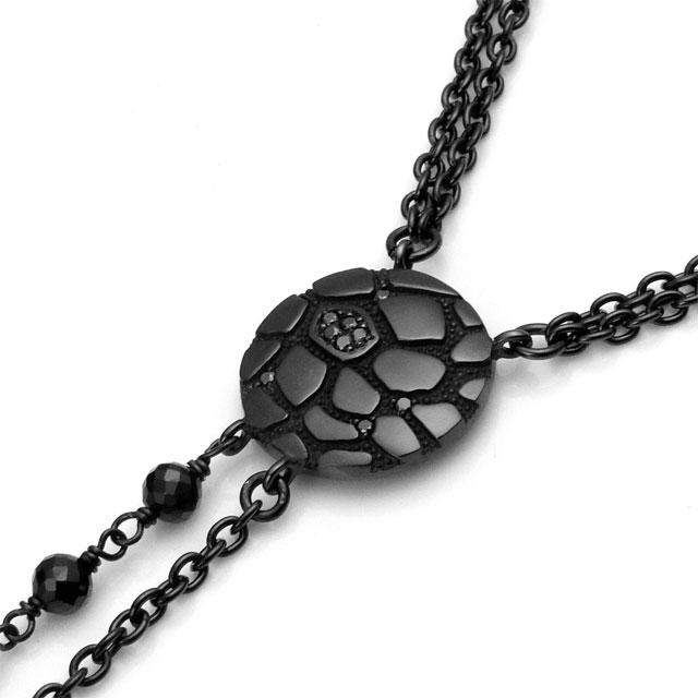 【海外訂購】【Velvet Lounge】Geometry 黑色鑽石&尖晶石長項鍊 60cm(V-VLP081B-BDBSP  0670880000) 1