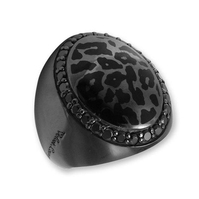 【海外訂購】【Velvet Lounge】Panther 豹紋酷黑純銀戒指 (V-VLR045) 0