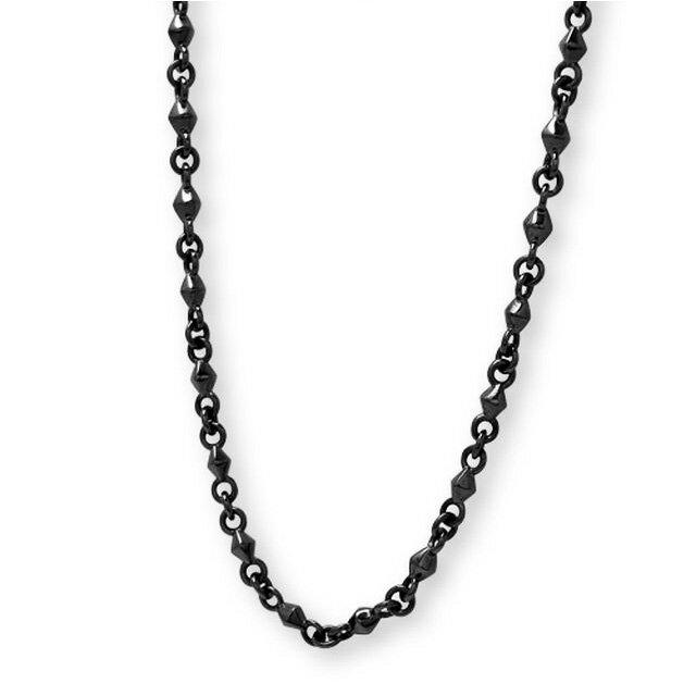 【海外訂購】【Velvet Lounge】Dignity 酷黑菱形純銀項鍊 50cm(V-VLN014B  062218B500) 0