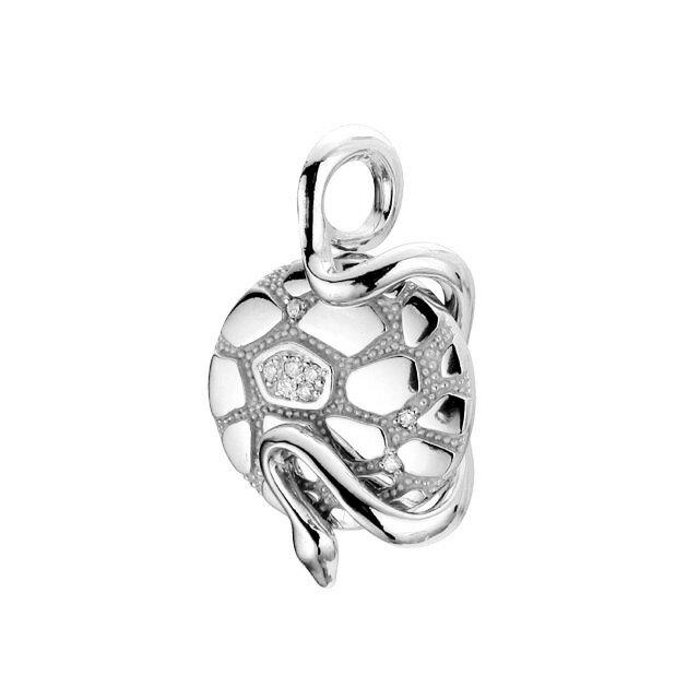 【現貨商品】【Velvet Lounge】Geometry 幾何蛇型鑲鑽純銀墜飾(V-VLP079W-CZ  06162800Q8) 0