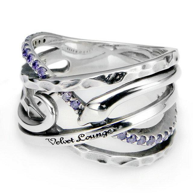 【現貨商品】【Velvet Lounge】Swear 誓約蛇型鑲鑽純銀戒指-紫(V-VLR065-CZ-Purple) 0
