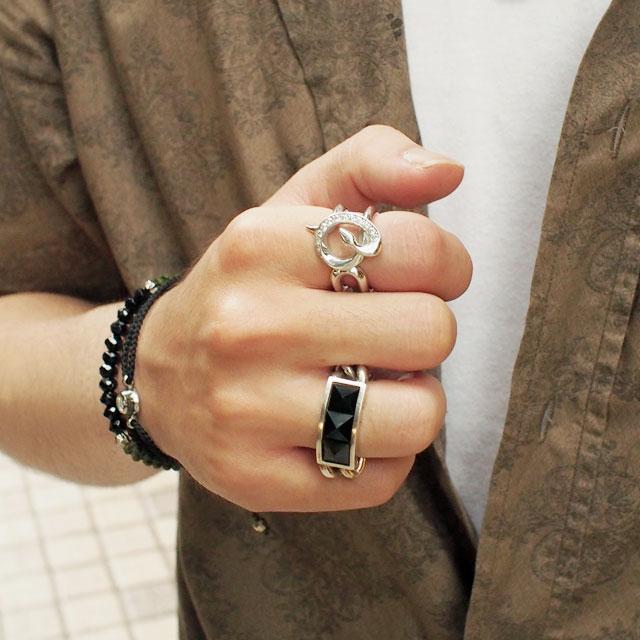 【海外訂購】【Velvet Lounge】Bind 制約蛇型鑲鑽純銀戒指 (V-VLR068W-Cz) 1