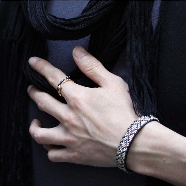 【海外訂購】【Velvet Lounge】Shiny 黑色扭結釘型純銀戒指(V-VLR082B-Cz-Clear) 1