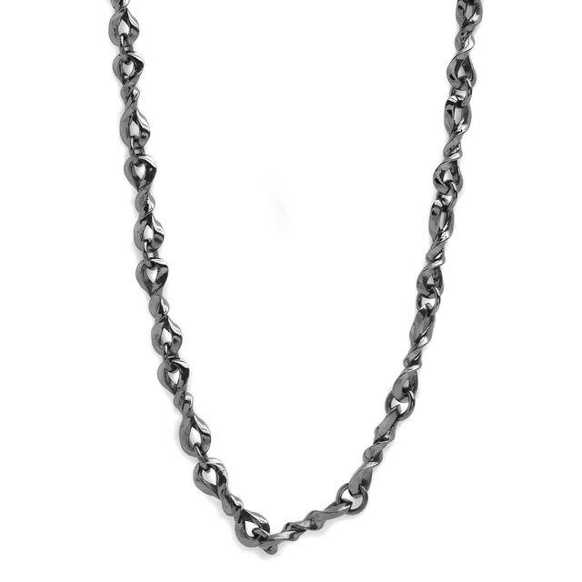 【海外訂購】【Velvet Lounge】Rule 螺旋酷黑純銀項鍊 50cm(黑色鍍膜)  (V-VLN018B  0622210000) 0