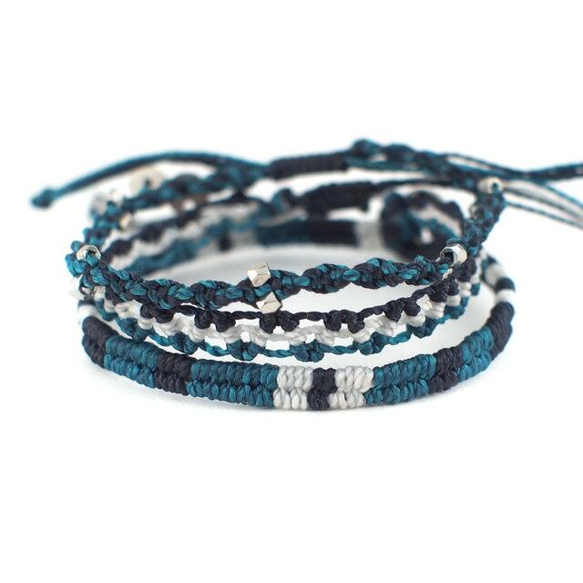 【現貨商品】【wakami】水底的冒險編織手環三條(WA0475  0627880000) 0