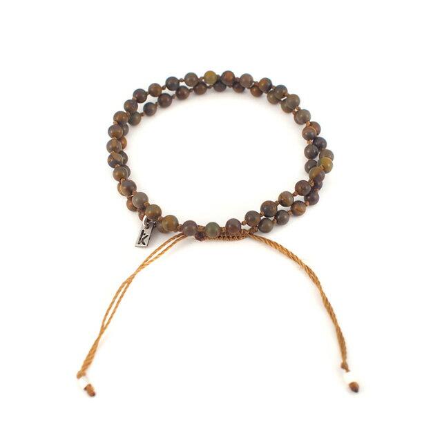 【現貨商品】【wakami】身體能量冥想棕色串珠二圈手鍊(WA0529-03  0678740000) 1