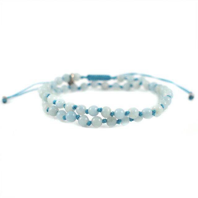 【現貨商品】【wakami】身體能量智慧藍色串珠二圈手鍊(WA0529-05  0678760000) 0