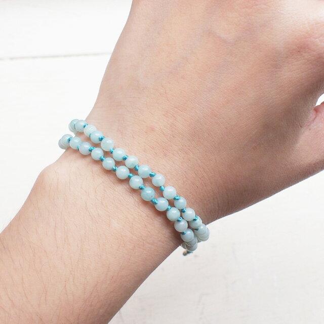 【現貨商品】【wakami】身體能量智慧藍色串珠二圈手鍊(WA0529-05  0678760000) 1