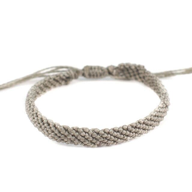 【現貨商品】【wakami】讚頌愛情灰色編織手環(WA0531-02  0678870000) 0