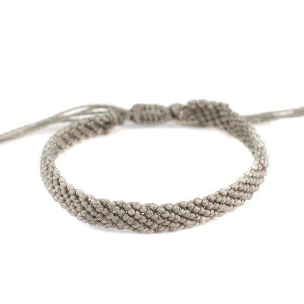 【現貨商品】【wakami】讚頌愛情灰色編織手環(WA0531-02  0678870000)