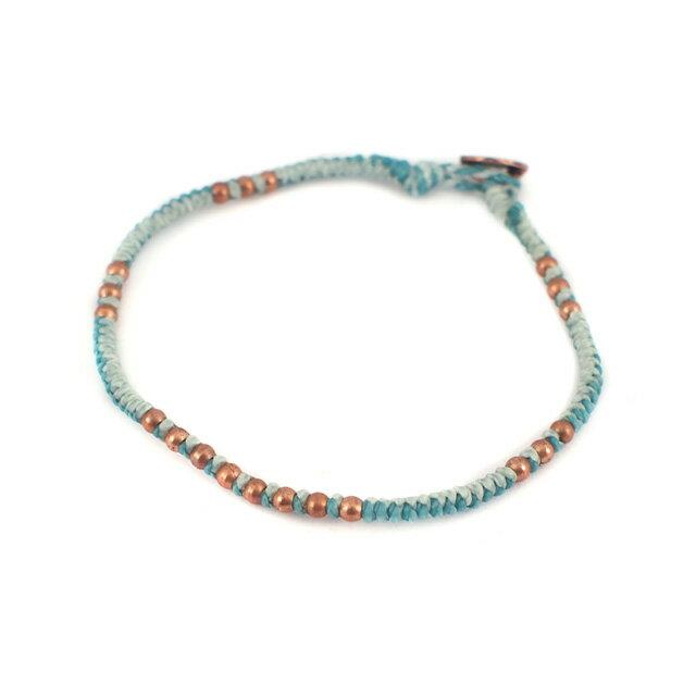 【現貨商品】【wakami】People金色串珠手工編織民族風薄荷綠手環(WA0535-05  0679090000) 1