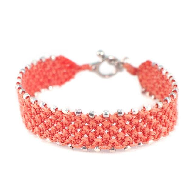 【現貨商品】【wakami】輕粉橘串珠編織手環(WA0544-03  0778670000) 0