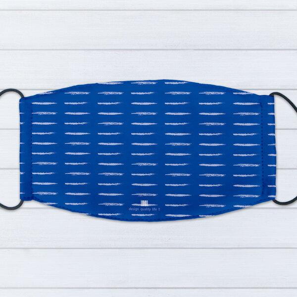 [ IHERMI ] 個性口罩 / 幾何藍橫線 / 愛好蜜 MIT台灣製造好安心 環保染劑使用 極細緻印染技術 0