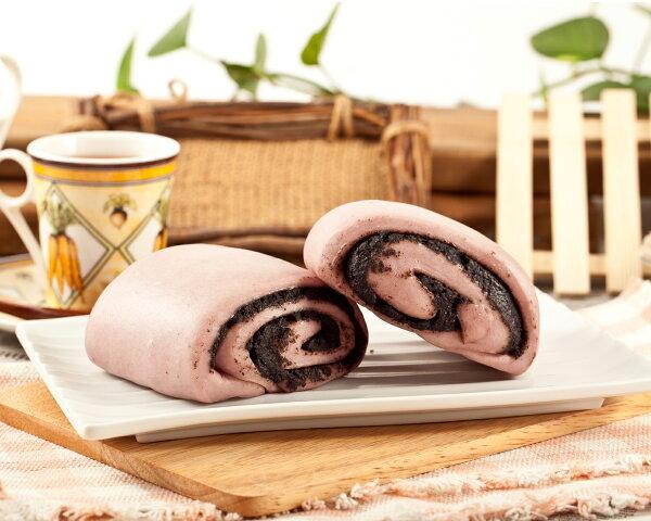 紫地瓜芝麻饅頭