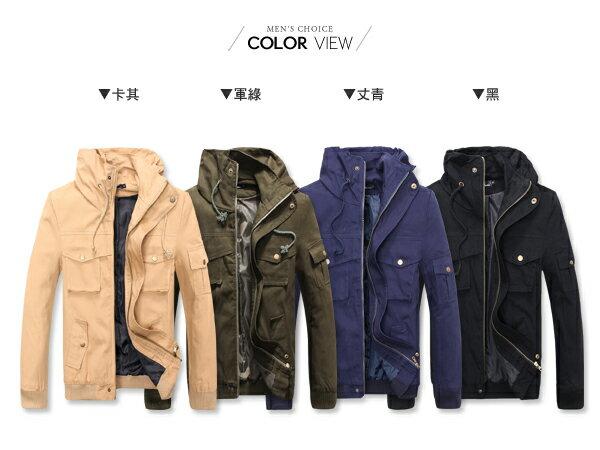 ☆BOY-2☆【PPK88019】保暖立領多口袋軍裝外套 1