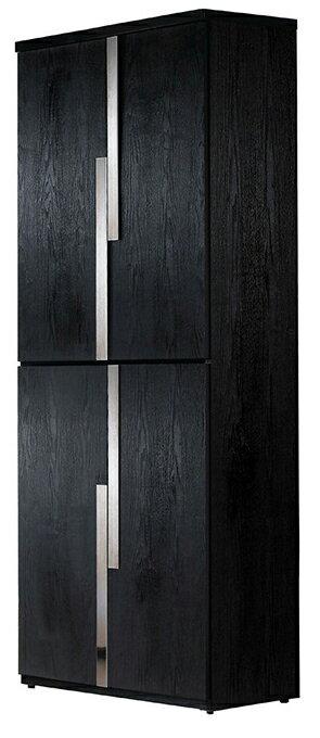 ~尚品 ~JF~277~3 艾克2.7尺黑色四門高鞋櫃