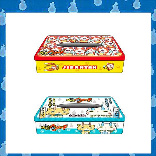 大田倉 日本進口正版 妖怪手錶 Yo-Kai Watch 吉胖喵 小石獅 小石次郎 鐵製面紙盒 衛生紙盒