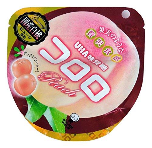 有樂町進口食品 日本 UHA KORORO白桃味果汁糖(40g)濃郁白桃香味 ★讓人吃過就念念不忘 4902750665514 1